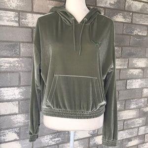PINK by VS velvet hoodie size M